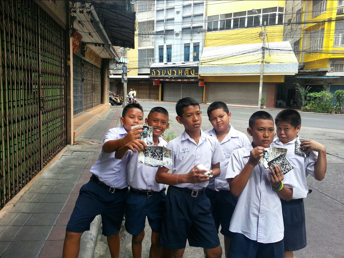 Happy Kids in Bangkok showing off D Young V and Eddie Colla slaps
