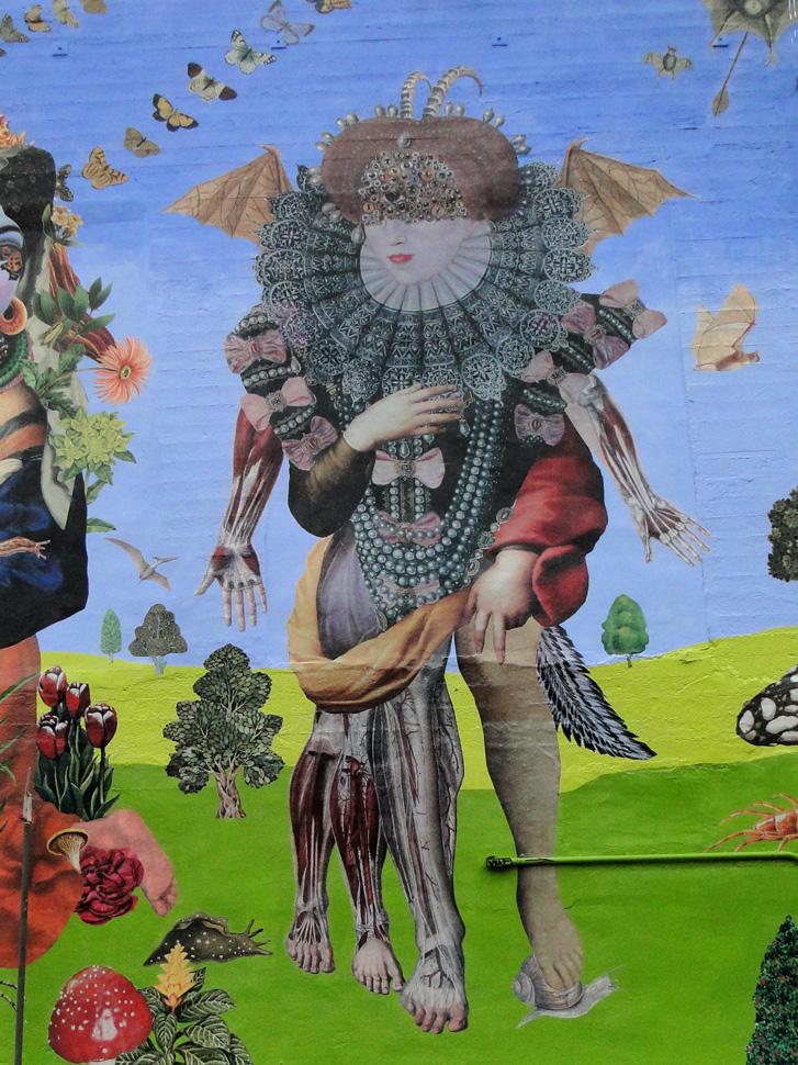 John Vochatzer street art wheat paste San Francisco, Ca
