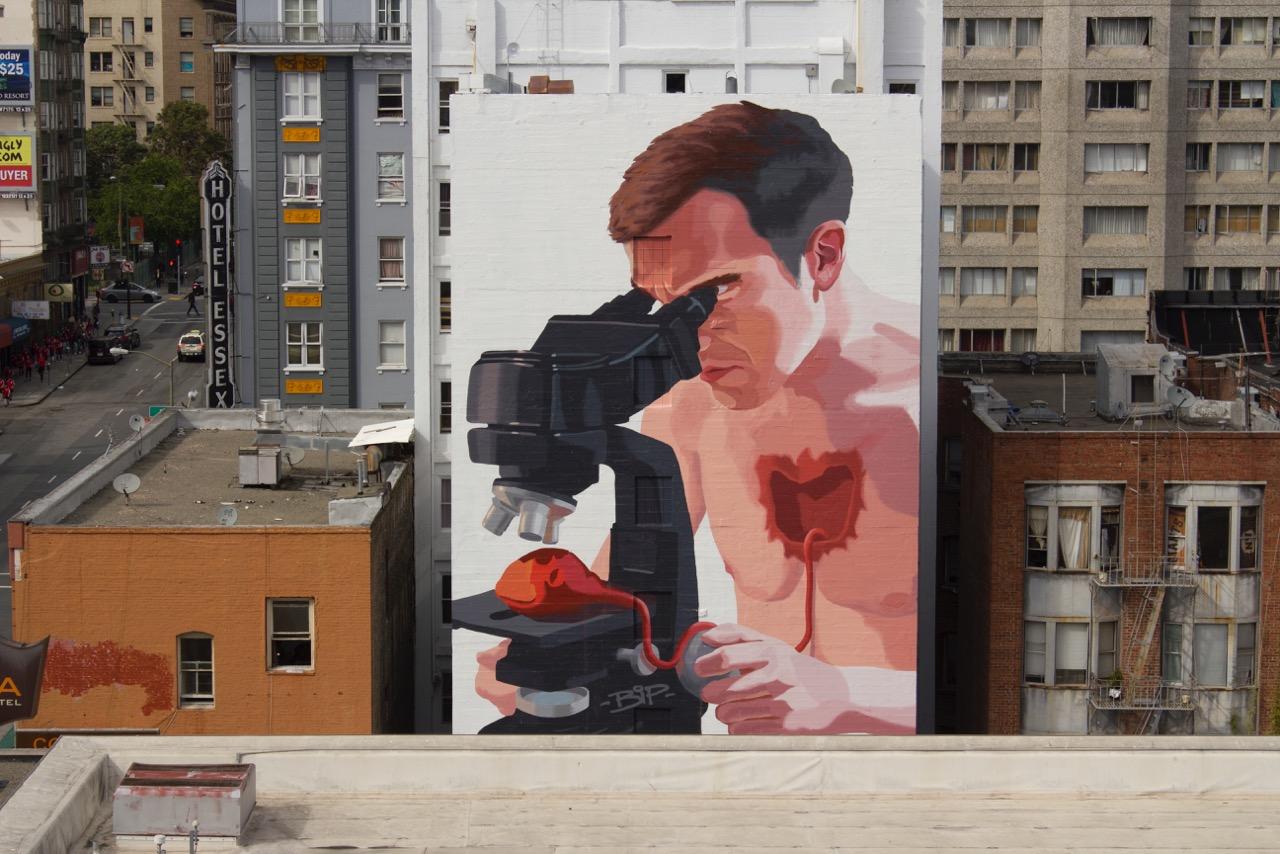 San Francisco selfie mural