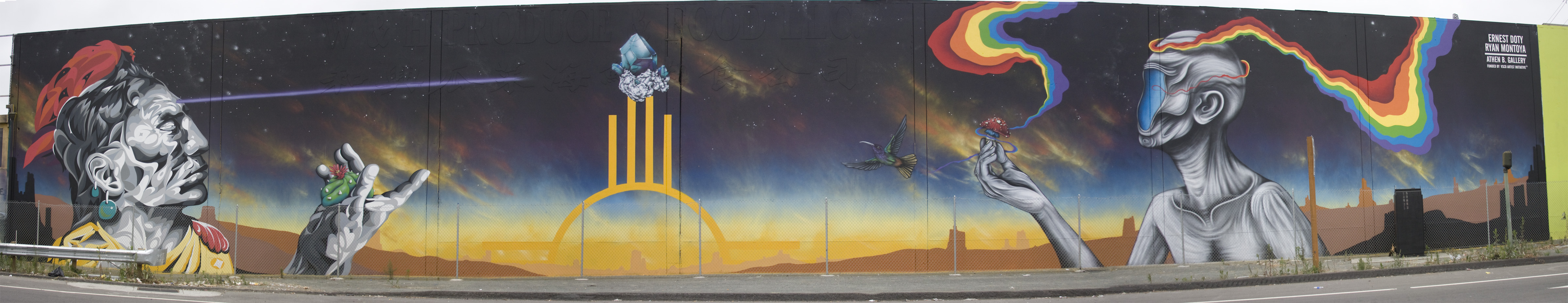 Ernest Doty and Ryan Montoya mural in Jack London Area of Oakland