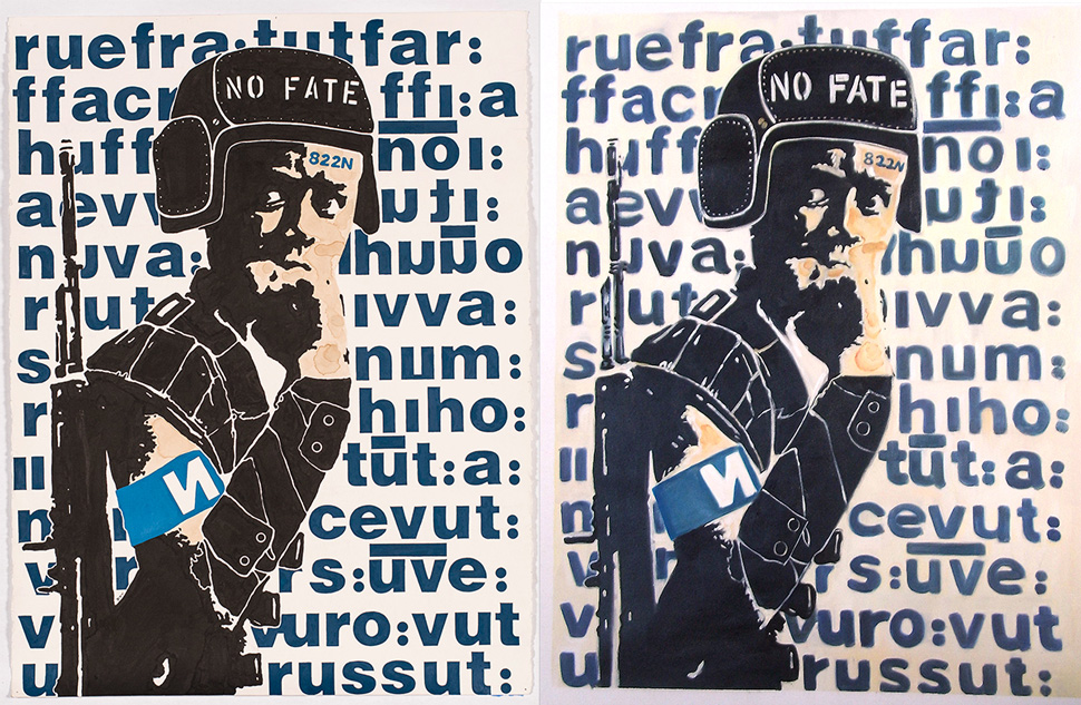 D Young V art from Made in China. One is original and the other is a copy. Photographs courtesy of Eddie Colla